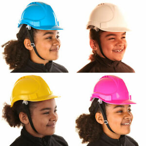 Toddlers Kids Childrens Hard Hat Safety Helmet White Blue Pink Yellow 0-7 Years
