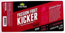 Green Flash Brewing PASSION FRUIT KICKER beer label CA 12oz
