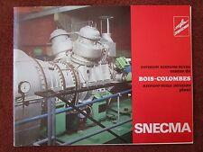 1973 PLAQUETTE SNECMA HISPANO-SUIZA BOIS COLOMBES TYNE SEMMB TURBOCOMPRESSEUR