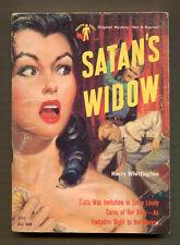 SATAN'S WIDOW by Harry Whittington - 1951 Phantom Books #505, PBO