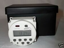12VOLT DC 16AMP PROGRAMMABLE TIMER LCD DIGITAL DISPLAY 16A 12V WEATHERPROOF CASE
