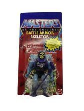MOTU BATTLE DAMAGE SKELETOR SEALED RECARDED Reproduction Card