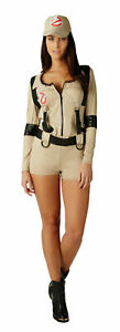 Ladies Large Size Ghostbusters Playsuit Fancy Dress - Officially Licence Costume
