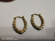 9ct Gold Creole Earrings Great Condition