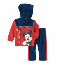 Nwt Disney Baby Mickey Mouse L/S Hoodie & Pants Outfit Set Infant Boy 12 mos New
