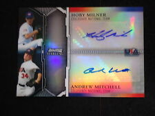 Hoby Milner/Andrew Mitchell 2011 Bowman Sterling USA  Dual Autograph Card #14/25