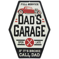IT Shop Metal Sign Signboard 3D Embossed Arched Tin Sign Dad/'s Ready