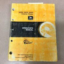John Deere Jd 450h 550 650h Operators Manual Crawler Bulldozer Maintenance Guide