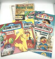Vintage Lot of 6 1980s Sesame Street Magazines and CTW Parents Guide Oct 1988