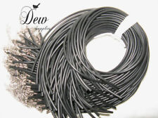 10 x  OPEN END Black Rubber Necklace Cord, choker Dewsupplies