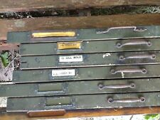 ex Daily Telegraph newspaper : Seven vintage printer's type trays / drawers