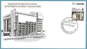 Australian 1980 High Court Building FDC Cover Stamp D233