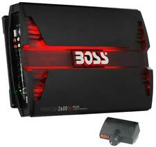Boss Audio PF2600 2600W 4 Channel Car Audio Amplifier Power LED Amp+Remote