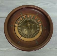 Vintage Wood Wooden Table Roulette Wheel Made In Germany Casino Collectible...