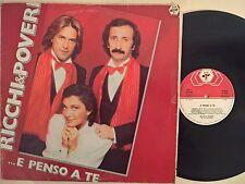 DISCO LP - RICCHI E POVERI - ... E PENSO A TE - 1981 BABY RECORDS BR 56024 - VG-