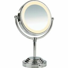 NEW Conair Classique Double-Sided Lighted Fog Free Mirror with  5x Magnification