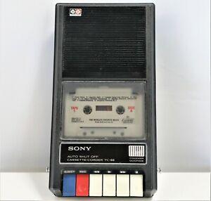 Sony Cassette-TC-66 Tapecorder Desktop Tape Player Recorder WORKS            C12
