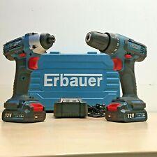 ERBAUER EDD12-LI-2 12V 2.0AH LI-ION CORDLESS TWIN PACK *KIT*