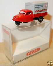 MICRO WIKING HO 1/87 GOLI DREIRAD TRICYCLE HANNOVER HANOVRE 1949 ROUGE GRIS BOX