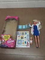"Mattel Dr. Barbie Doll 1993 ""HEAR BABY'S HEARTBEAT"" #11160 Blonde Baby IOB"