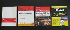 Lot of four Macromedia Flash 8 Books Instruction Guides