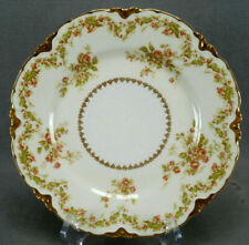 Haviland Limoges Pink Roses Holly Berries & Gold 8 1/2 Inch Plate C. 1876-1930