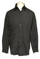 Men's Ben Sherman Blue White Check Medium Long Sleeve Cotton Blend