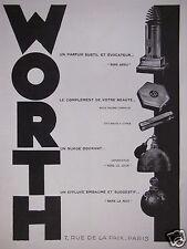 PUBLICITÉ 1930 WORTH PARFUMS SANS ADIEU POUDRE ET ROUGE A LÈVRES - ADVERTISING