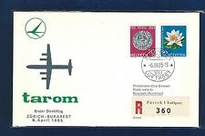 # 110  Flight Cover Tarom 1965 Zurich - Bukarest