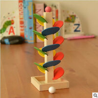 Educational Toy Montessori Block Wooden Tree Marble Ball Run Track Baby Toy Gift