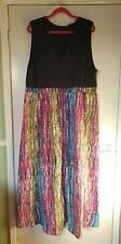 Yours - Ladies Maxi Dress with Rainbow / Mulitcolour Skirt. Size 22 / 24