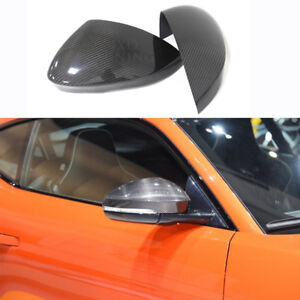 For Jaguar F-Type Carbon Fiber Mirror Cover Add On Caps 2014 2015 2016 2017 UP