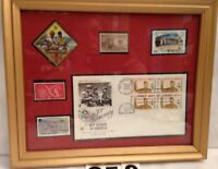 BSA 50th Anniversary Boy Scouts Of America Prof Framed Stamps w/1st Day Of Issue