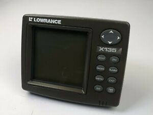Lowrance X135 fishfinder sonar (head & cover ,No other Accessories)