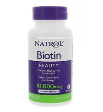 ✅NATROL BIOTIN Maximum Strength 10,000 MCG 100 Tablets