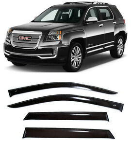 For GMC Terrain 2009-2017 Window Side Visors Sun Rain Guard Vent Deflectors