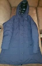 North Face Down Insulated Hyvent Parka Coat Womens Size XL NAVY BLUE