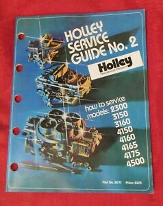 HOLLEY CARBURETOR - SERVICE GUIDE #2 - NEW