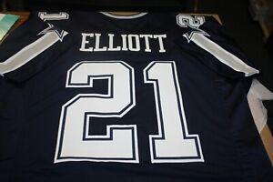 Ezekiel Elliott #21 SEWN STITCHED HOME NAVY GAMEDAY JERSEY SIZE XL ZEKE