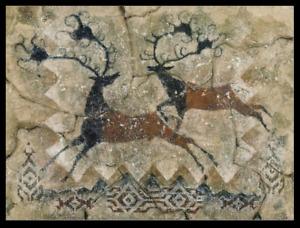 Wapiti Magic- Art Print by Cecilia Henle - Deer Reindeer Stag