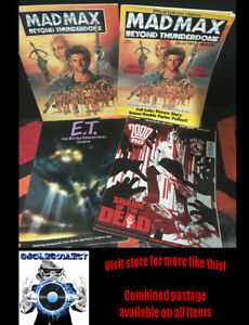 Mad Max 3 Collectors magazine & book / ET Book / 2000AD comic Shaun of the Dead