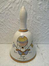 """Clochette de table décorative en faïence : """" Bon Voy Age 1789 """""""