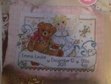 Teddy Bear Angel Fairy New Baby Birth Sampler Cross Stitch Chart