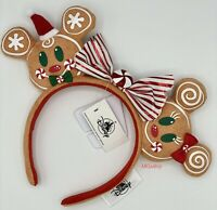 NEW 2020 Disney Parks Christmas Ears Headband Gingerbread Minnie & Mickey Mouse