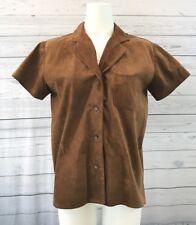 Tasha Polizzi for T.P. Saddleblanket & Co. Suede Button Up Western Shirt Size M