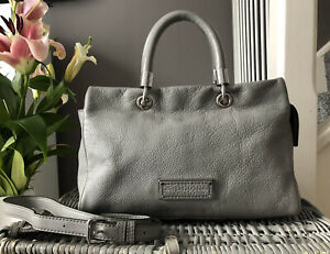 Gorgeous GENUINE Marc Jacobs Too Hot To Handle Grey Leather Multiway Bag Handbag