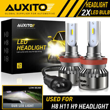 2X AUXITO H8 H11 H9 LED Headlight high beam Kit CSP CHIP Xenon White car Bulb E
