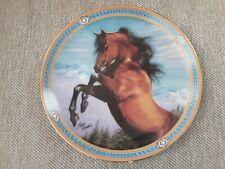 Mountain Majesty On the Range Danbury Mint, Deco Plate Susie Morton Horse
