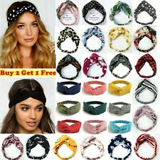 Boho Floral Twist Knot Headband Elastic Wrap Turban Hair Band Hairband Sports