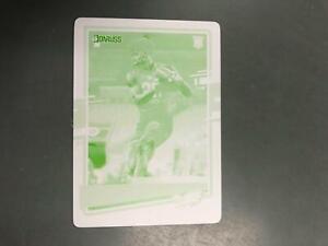 John Hightower IV 2020 Donruss Yellow Printing Plate Rookie #1/1 Eagles A7